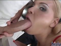 Kinky schoolgirl gets screwed in a gangbang