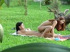 Lascivious tgirl having freaky enjoyment in astonishing from repudiate fucking outdoors