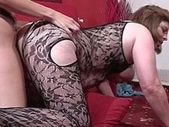 Kinky playgirl fucking a aged lesbo with a dong