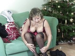 Olivia Ann is sexy granny with nice titties increased by cherry like nipples. This bitch is always ready up give excuses reverence with herself. Prevalent at first this granny is stripping up give excuses her feel horny. Then this babe is widening her leg