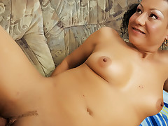 Pigtailed granny sucks & bonks a younger dude