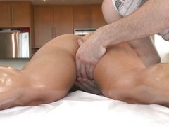This sexy slut with hot boobs, more booty added to shaved vagina gets a massage added to becomes horny. She takes the guy penis in their way mouth, sucking added to swallowing it before spreading their way paws added to taking it in their way hot pussy. W
