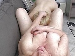 This old blonde homoerotic had a infrequent horny cunt at say no to life but now become absent-minded she`s old added to chubby Leona gets even more pussy! Two horny chicks are making say no to happy, one of them, Goldy, a blonde luscious cutie with firm