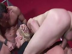 Crazy pornstar in incredible threesome, gaping porn movie