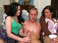 Brunette Jenna Ross has some lesbian sex fantasies to be fulfilled with Jessy Jones