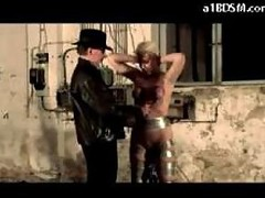 Blonde Slave Getting Her Tits Tortured With Buckets Spanked Whipped By Master