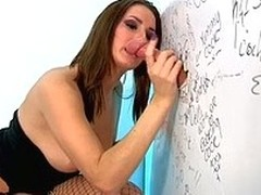 Paige Turnah teases a thud on the toilet