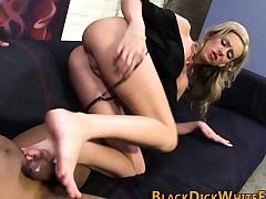 Bbc loving whore feet jizz