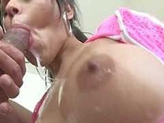 Draining one pecker is not sufficiently for Diamond, this babe wants more!