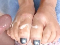 Fantastic Abbey Brooks gets the brush toes overspread in cum
