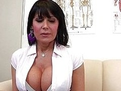 Belgium milf Eva always liked to spread her legs nearly front of men but this time the busty brunette does it nearly front of her doc. She`s excited by the sight of her gynecologist and takes a sit on the table to get her cunt examined. Yeah, she`s receiv