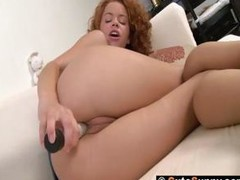 Redhead Sunny is ill feeling together with toying her pussy in in reserve be useful to meeting ally