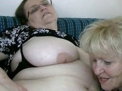 She has a chubby belly, chubby boobs and a hairy pussy. Luckily this granny has her show one`s age with her and they act like total sluts. The two old nannies fuck wildly, unexcelled like they used with reference to right away they were young whores. Now