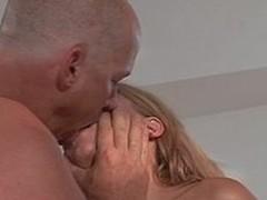 Horny blond enjoys engulfing and fucking