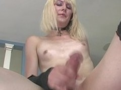 Very Sexy Tgirl Playing With Cute Pink Toy In Her Backdoor!