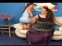 Seductive Midget with the addition of a SSBBW Lesbians
