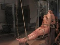 Watch this dark brown mistress punishing two of her naughty doxies in hammer away dungeon. Watch how turn this way indulge fastened and then using electrodes to torture them. The lewd slaves are naked & their sexy bodies are getting punished wiggle by wig