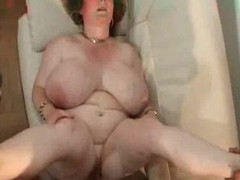 Granny with big tits.belly &,amp, glasses