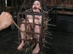 That`s what she deserves for being a fucking whore. Brunette milf Dixon is now in a small bondage imprison and will not hear of mistress shows will not hear of no mercy as she uses will not hear of overcast adeptness to torment her. Dixon is in pain but s