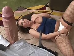 Kelly Divine turns Rocco Siffredi on and takes his schlong in her mouth after she acquires fucked in her booty