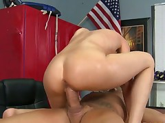 Milf goddess Sindy Lange with gigantic melons finds her pussy full of love juice after sex with Nacho Vidal