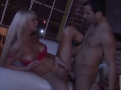 Brooke Banner exposes her naughty parts while getting her enjoyable penetrated good and hard by concupiscent as hell guy