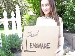 Dani Daniels squeezing some fresh lemonade
