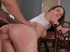 Tattoos Jade Nile takes dildo up her love tunnel after sexy striptease