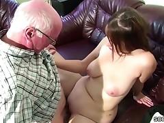 German 18yr old Teeny Seduce to Fuck by old Grandad