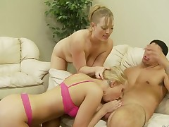 Vicky Vixen knows no limits when it comes to eating her fuck buddys boner