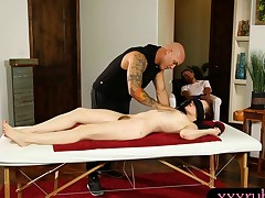 Spicy hot Jessica Ryan fucked by her pervert masseur