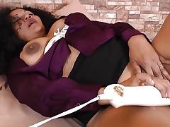 LatinChili Curvy Aged Sharon Solo Masturbation