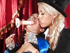 Bridgette B puts hot assistant Lana Lovelace through her paces