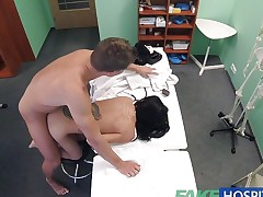 FakeHospital Horny Russian babe strips and bonks