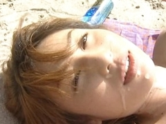 Hot Asian Newborn Mami Gets Fucked and Facialized on the Beach