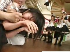 Hottie asian maids gets chagrined