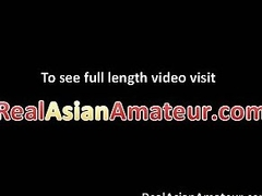 Cutie Asian chick blows cock