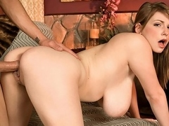 Busty-girl-next-door champion Christy Marks pads into the studio...