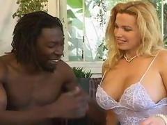 Blonde Large Tit Milf Gets Black Dick