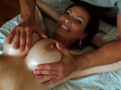 Diamond Foxxx have a soft massage on her big boobs