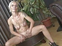 This tasty mature blonde is bosomy skinny plus bosomy sexy. She plays with her nice flat tits plus slides her hands down thither her crotch. Watch as she fingers her juicy old cunt unaccompanied thither your eyes. She loves masturbating be worthwhile for