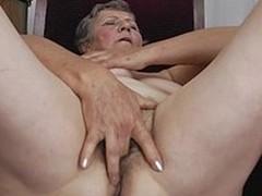 Curly grandma still works her wringing wet twat