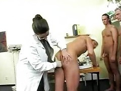 Chubby Titty Doctor Has Gangbang With Soldiers