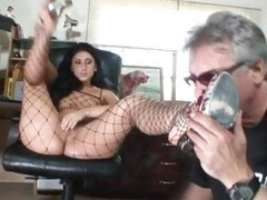 Spicy Luscious Lopez lets this prick swell up her toes