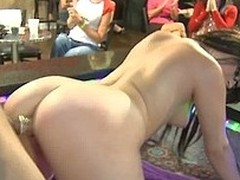 Dancing Remain loves to strip for horny babes for money