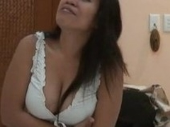 Curvy Asian amateur primarily touching solo striptease porn