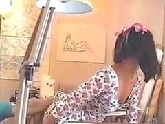Tailed Asian teen anally banged