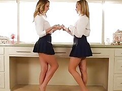 Mia Malkova and Kenna James Twin Schoolgirls