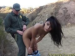 Caught latina spits cum